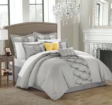chandelier bedding set 4 chic bedroom enchanting white ruffle forter for bedroom decoration for black