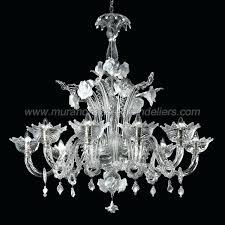 8 lights transpa and white glass venetian chandelier murano chandeliers italy chandelier iris van lite venetian