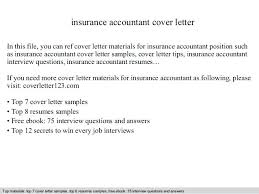 Cover Letter Insurance Insurance Accountant Cover Letter In This