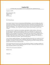 Cover Letter Sample Mechanical Engineer