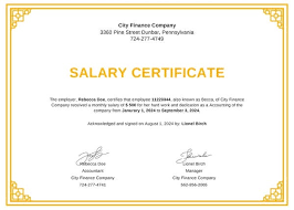 Example Of A Certificate Of Employment Fake Salary Certificate Template Printable Format Best Templates