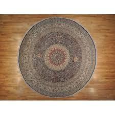 16 x16 xl round pure silk tabriz 500 kpsi hand knotted oriental rug r19497