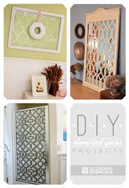 stenciled glass projects using cutting edge stencils