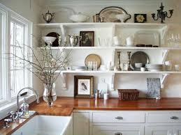 For Shelves In Kitchen White Wall Shelves For Effective Storage In Small Kitchen