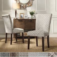 Inspire Q Catherine Print Parsons Dining Side Chair (Set of 2) (Grey Link