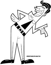 Meneer Turner The Fairly Oddparents Kleurplaat Nickelodeon