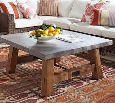 ... Coffee Table, Amazing Grey Square Farmhouse Cement Coffe Table Design:  Cozy cement coffee table ...