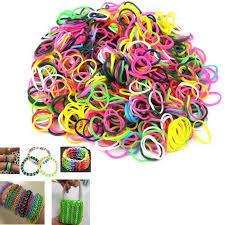 rainbow diy rubber band weaving bracelets white red multicolor