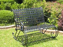Wrought Iron Benches A Note Of Luxury In Landscape Symphony Outdoor Wrought Iron Bench