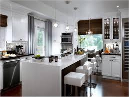 Kitchen:Modern Kitchen, Twin Islands, Marble Bench Top Enticing Sleek  Kitchen With Narrow
