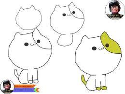 Cara menggambar anak kucing