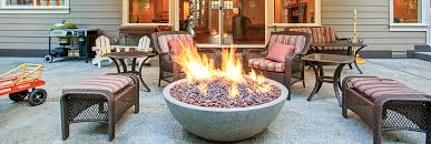 an outdoor fire pit undercover