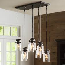 pottery barn paxton hand blown glass light pendant chandelier