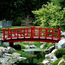 Lawn & Garden:Small Stone Bridge In Japanese Garden Idea Simple Red  Japanese Garden Bridge
