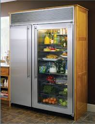 glass front fridge. Exellent Front Custom Refridgetor  Sometimes Extra Large Kitchens Need  Refrigerators Glass Front Refrigerator To Fridge