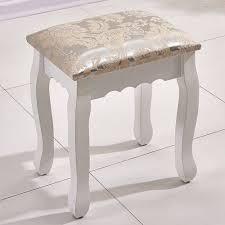 Ospi Schlafzimmer Holz Weiß Chic Schminktisch Hocker Piano Stuhl