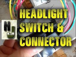 jeep headlight switch & connector repair youtube jeep yj headlight dimmer switch at Jeep Yj Headlight Switch Wiring Diagram