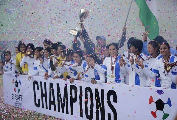 Image result for INDIAN WOMENS FOOTBALL SAFF 2014