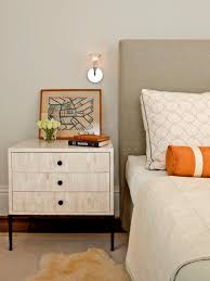 tips for a clutterfree bedroom nightstand  hgtv