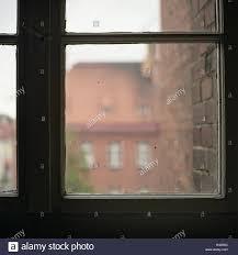 Haus Interieur Geschlossenem Fenster Ansicht Detail Gefängnis