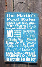 Swimming Pool Decor Signs Pool Decor Personalized Pool Rules Sign Pool By FarmhouseChicSigns 46
