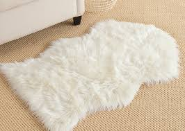 complete sheepskin rug mainstream faux fur flair in cream next day delivery