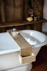 clawfoot tub caddy of bathtub excellent beautiful bathroom tray trays for reading diy clawfoot tub caddy