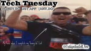 Tech Tuesday Honey Do List App Any Do Digitald0m Techy Nerdy