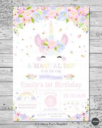 rainbow birthday invitations beautiful cute unicorn personalised invitation digital or printed ship of rainbow birthday invitations