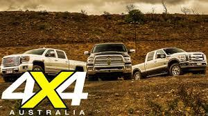 American Pick-up truck comparison   Road test   4X4 Australia - YouTube