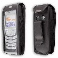 Nokia 6220 in schwarz aus Echtleder ...