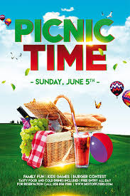 Picnic Flyers Download Free Picnic Time Free Poster And Flyer Template For Photoshop