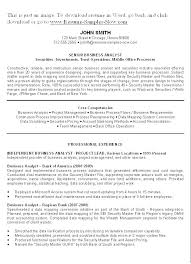 Sample Business Resume Example Business Resumes Targeted Resume