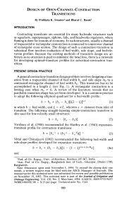 Open Channel Design Pdf Design Of Open Channel Contraction Tranisitions