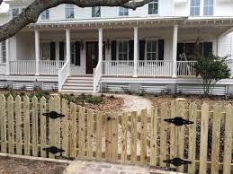 picket fence double gate. Contemporary Picket Charleston Picket  Concave Double Gate And Fence Double Gate