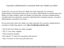 Executive Administrative Assistant Interview Questions - East ...