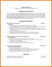 6 Restaurant District Manager Resume Bibliography Apa
