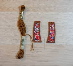 using a single strand of thread stitch your way around the earrings tie it off in the back and snip the thread as close to the knot as you can get
