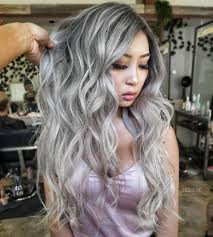 Silver Hair Colors Ombre Color Celebrity