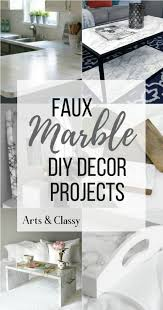 these diy faux marble decor tutorials are surprisingly easy and budget friendly whether you want