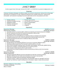 Resume Operations Manager Best Operations Manager Resume Example LiveCareer 3