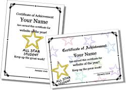 Star Of The Month Certificate Template Certificate Templates For Teachers To Personalize And Print