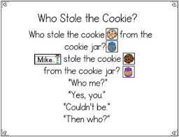 Cookie Chart Who Stole The Cookie Pocket Chart Activities