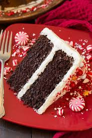 Peppermint Chocolate Cake with Peppermint Buttercream Frosting