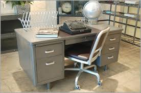 vintage metal office desk. Refinished Vintage Steel Tanker Desk Metal Office C