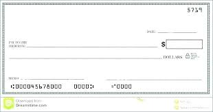 Blank Cheque Template Magnificent Mock Check Template Arabnorma