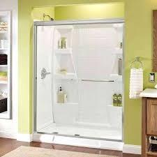 glass bathroom door semi sliding shower door in chrome glass bathroom doors miami
