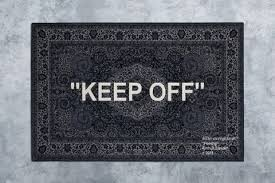 here s your chance to cop virgil abloh s keep off ikea rug