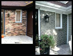 gallery of before amp after using concrete stain to makeover brick luxurious stained and 8 on staining brick