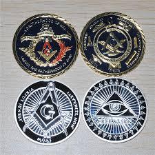 Freemason Design Us 11 6 20 Off Free Shipping Mix Order Two Design Metal Craft Freemason Masonic Mason Illuminati All Seeing Eye Replica Coins 4pcs Lot In